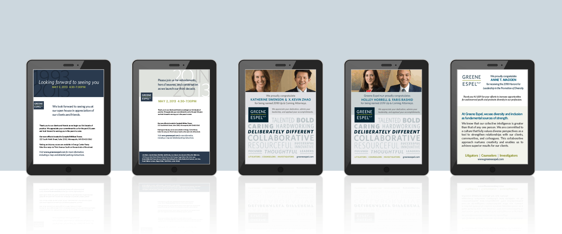 greene espel law firm email design